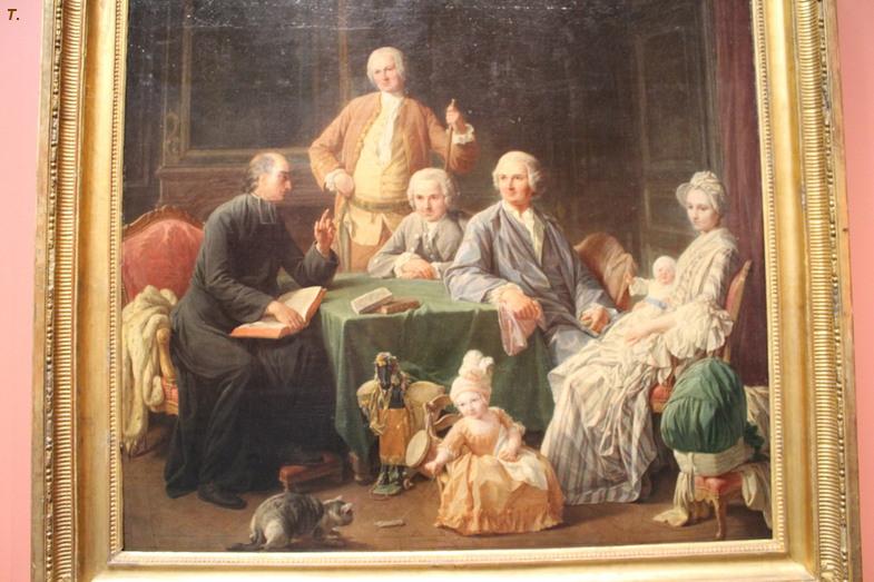 Никола Бернар Леписье «Портрет семьи Леруа, слушающей чтение библии»