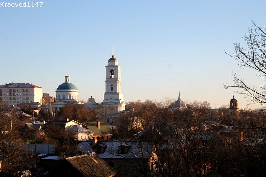 Вид на Серпухов с Красной горы